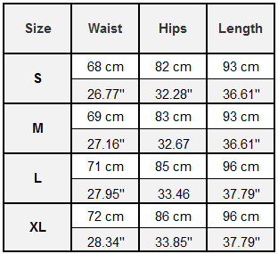 Gonunu Honeycomb Leggings Size Guide
