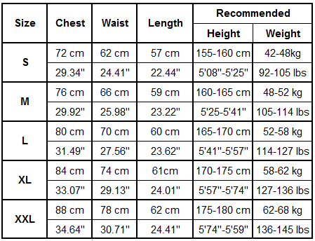 Gonunu Women's Tank Tops Size Guide