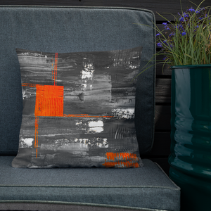 Orange Square Pillow - GONUNU