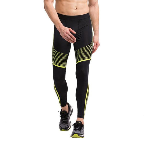 Black and Yellow Compression Leggings - GONUNU