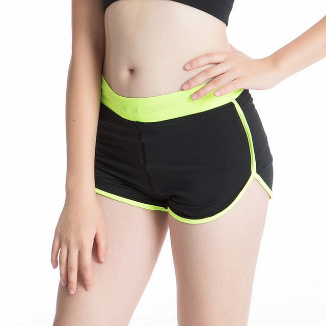 Black and Green Jogger Shorts - GONUNU