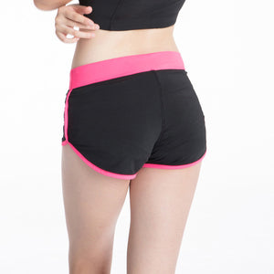Black and Pink Jogger Shorts - GONUNU