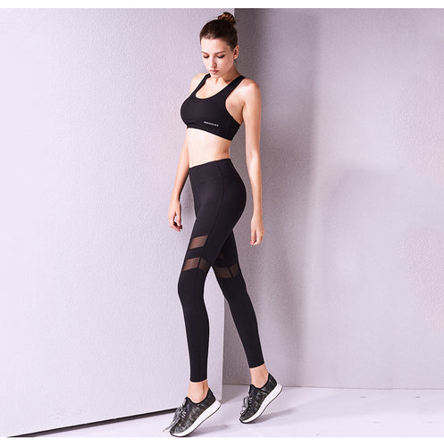AZLK Black Mesh Leggings - GONUNU