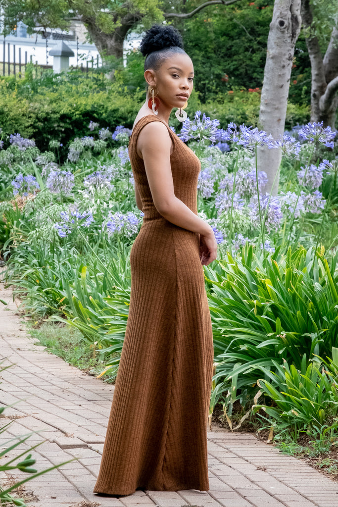 Tan Loungewear Maxi Dress