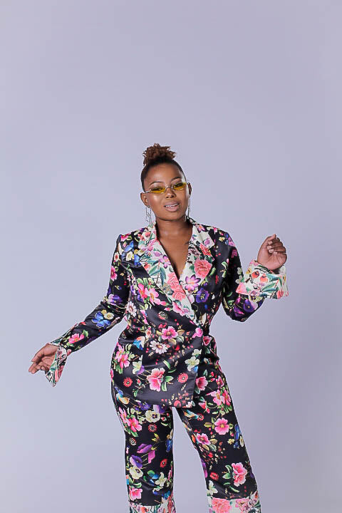 Abloom Satin Jacket Shirt