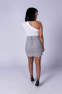 Posh Asymmetric Mini Skirt