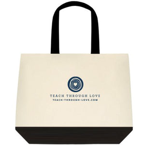 TEACH THROUGH LOVE TOTE BAG