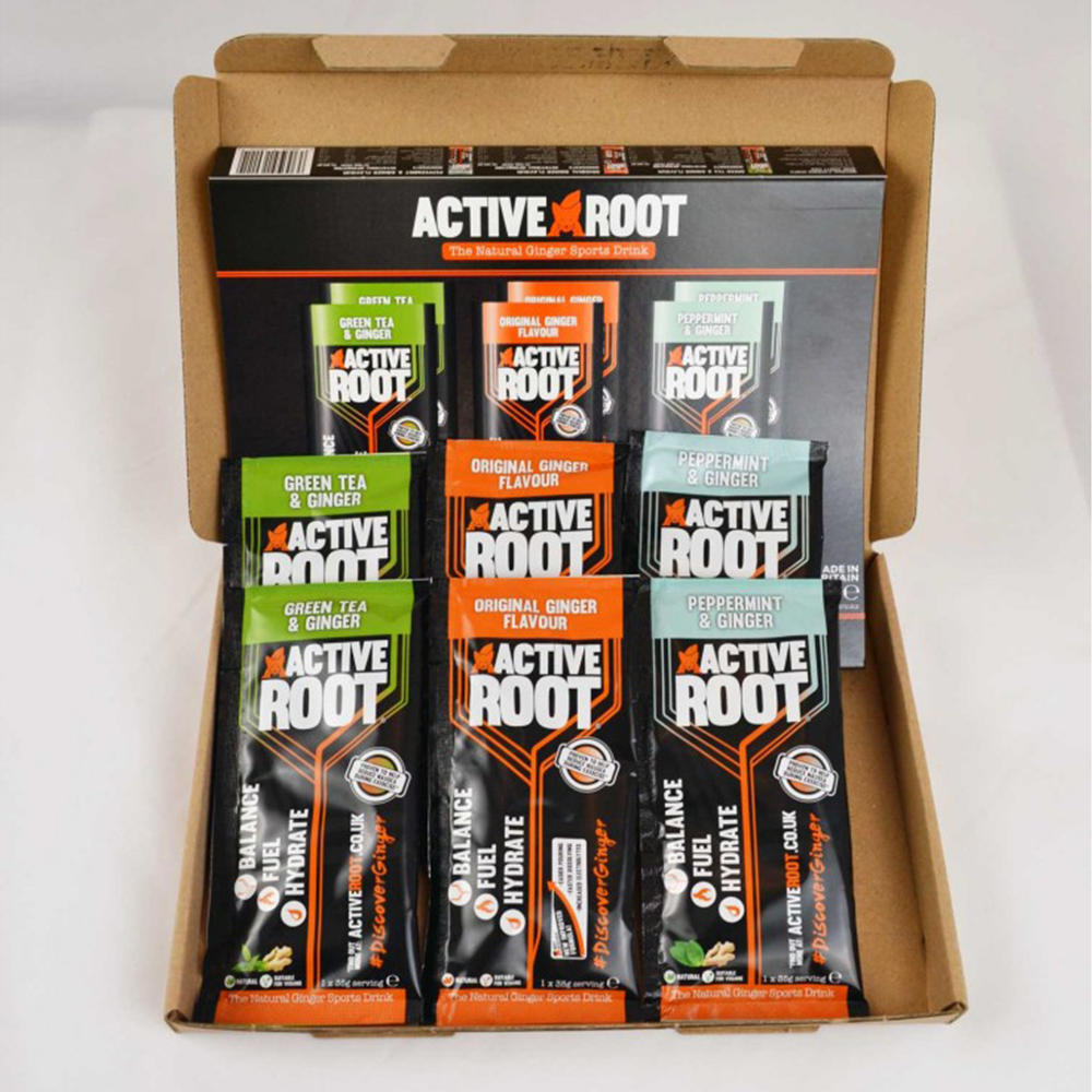 Active Root - The Natural Ginger Sports Drink 6 Sachet Variety Pack