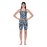 Arena - Womens Swimsuit Power Triangle Full Body Black Multi