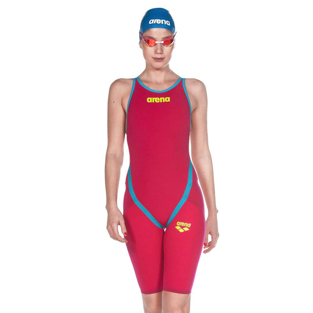Arena - Womens Racesuit Powerskin Carbon Flex VX Dark Red Turquoise