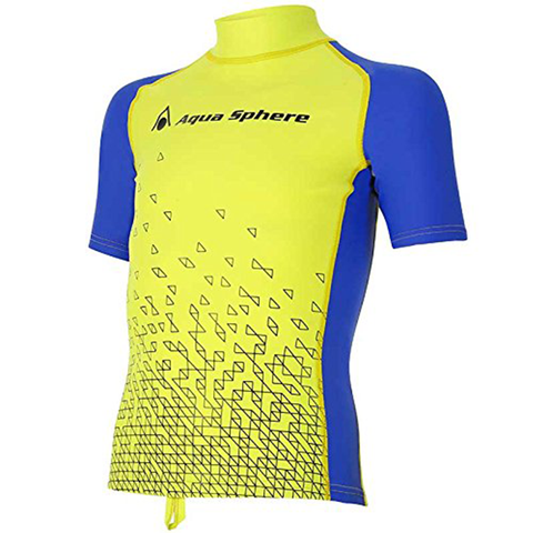 Aqua Sphere - Kids Bix Rashguard Yellow/Blue - Sharks Swim Shop