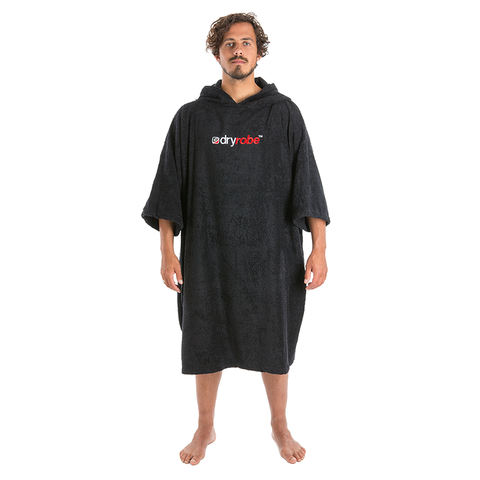 DRYROBE - SHORT SLEEVE TOWEL Black - Sharks Swim Shop
