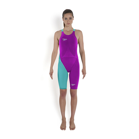 Speedo - Womens Lazor Elite 2 Closed Back Kneeskin Purple/Blue
