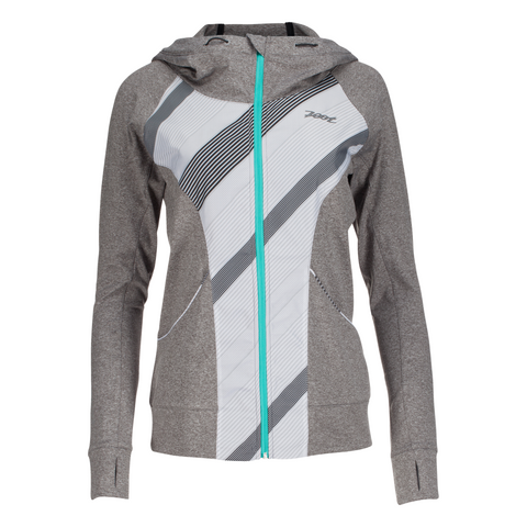Zoot - Womens Dawn Patrol FZ Hoodie Graphite Heather/Pipeline