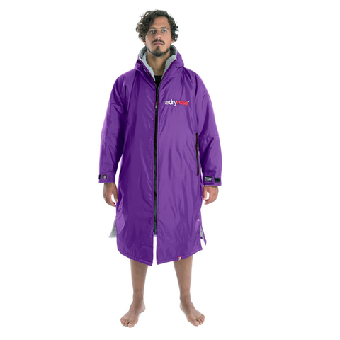 DRYROBE ADVANCE - Long Sleeve Purple & Grey - Sharks Swim Shop