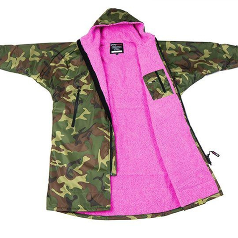 DRYROBE ADVANCE - Long Sleeve Camo & Pink - Sharks Swim Shop