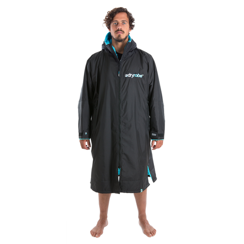 DRYROBE ADVANCE - Long Sleeve Black & Blue - Sharks Swim Shop