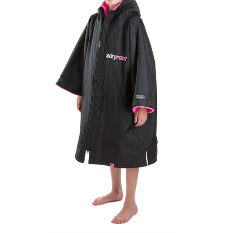 DRYROBE ADVANCE - Long Sleeve Black & Pink - Sharks Swim Shop