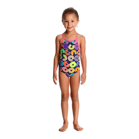 72cee6b54 FUNKITA - Toddler Girls Printed One Piece Dunking Donuts - Sharks Swim Shop  ...