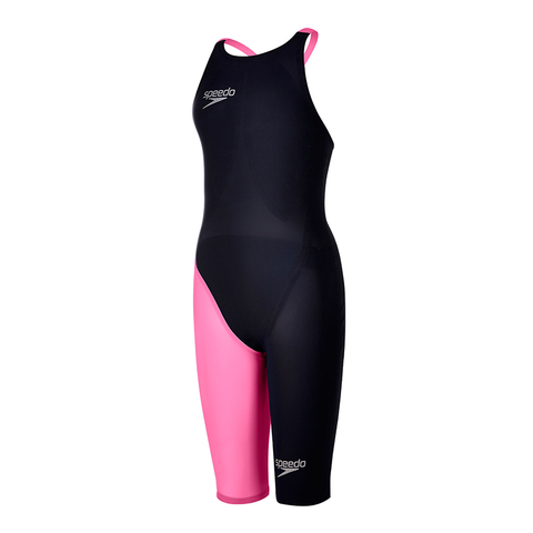 Speedo - Womens Lazor Elite 2 Open Back Kneeskin Black/Pink