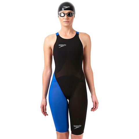 Speedo - Womens Lazor Elite 2 Open Back Kneeskin Black/Blue
