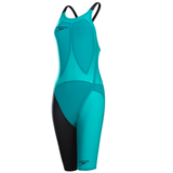 Speedo - Womens Lazor Elite 2 Open Back Kneeskin Jade/Black