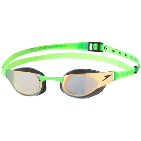 Speedo - Goggles Fastskin Elite Mirror Green/Gold - Sharks Swim Shop