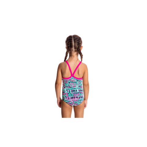 FUNKITA - Toddler Girls Printed One Piece Minty Madness - Sharks Swim Shop