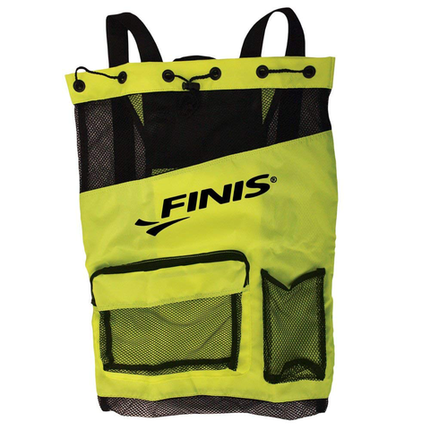 Finis - Ultra Mesh Backpack Acid Green/Black - Sharks Swim Shop