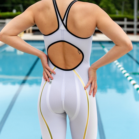 Finis - Rival Open Back Kneeskin White - Sharks Swim Shop