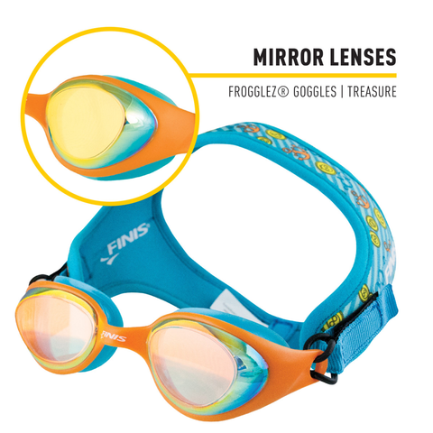Finis - Frogglez Goggles Treasure - Sharks Swim Shop