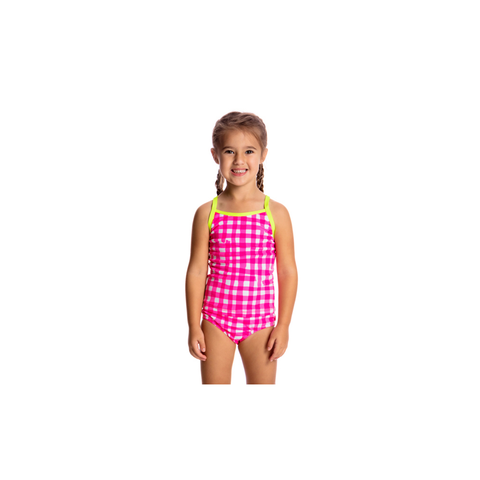 FUNKITA - Toddler Girls Tankini & Brief Check Me Out - Sharks Swim Shop