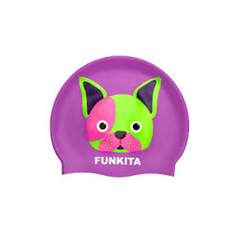 FUNKITA - Silicone Swimming Cap Pooch Party - Sharks Swim Shop