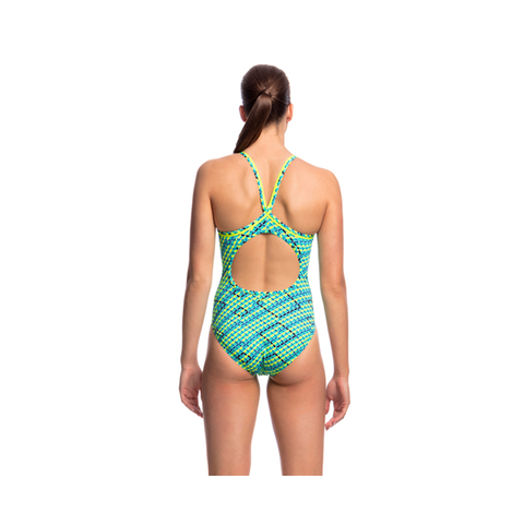 FUNKITA - Ladies Diamond Back One Piece Celcius - Sharks Swim Shop