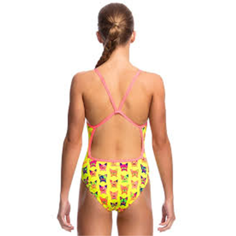 FUNKITA - Girls Single Strap One Piece Hot Diggity - Sharks Swim Shop