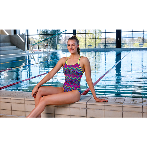 FUNKITA - Ladies Diamond Back One Piece Knitty Gritty - Sharks Swim Shop
