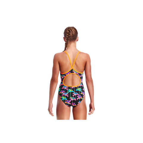 FUNKITA - Girls Diamond Back One Piece Palm Drive - Sharks Swim Shop