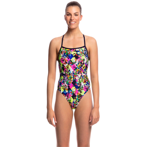FUNKITA - Ladies Strapped in One Piece Princess Cut - Sharks Swim Shop