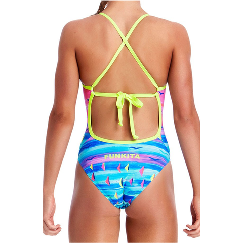 FUNKITA - Ladies Tie Me Tight One Piece Regatta Royale - Sharks Swim Shop