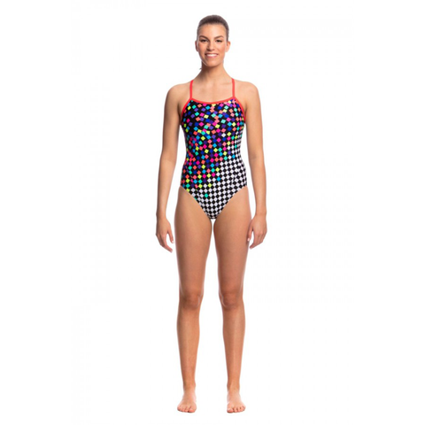 FUNKITA - Ladies Single Strap One Piece Scatter Brain - Sharks Swim Shop