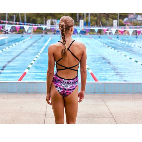 FUNKITA - Ladies Strapped in One Piece Skull Swim