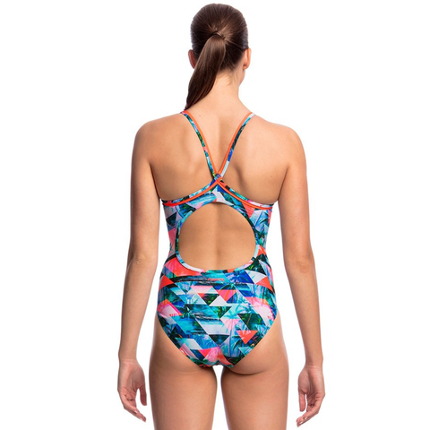 FUNKITA - Ladies Diamond Back One Piece Split Scene - Sharks Swim Shop