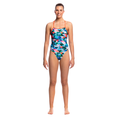 FUNKITA - Ladies Tie Me Tight One Piece Split Scene - Sharks Swim Shop