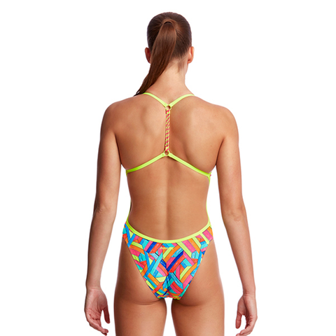 FUNKITA - Ladies Twisted One Piece Panel Pop - Sharks Swim Shop