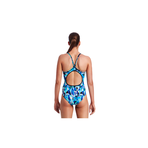 FUNKITA - Ladies Diamond Back One Piece Crack Attack - Sharks Swim Shop