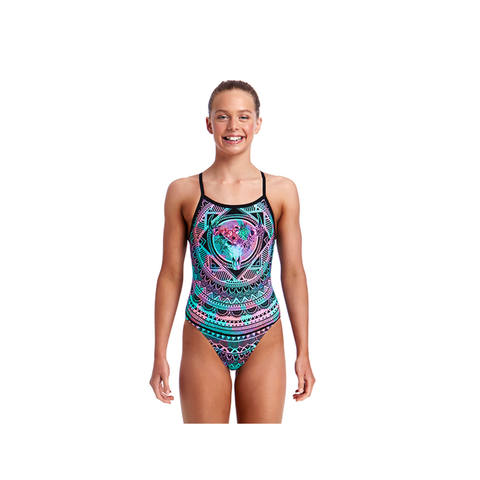FUNKITA - Girls Single Strap One Piece Crown Princess - Sharks Swim Shop