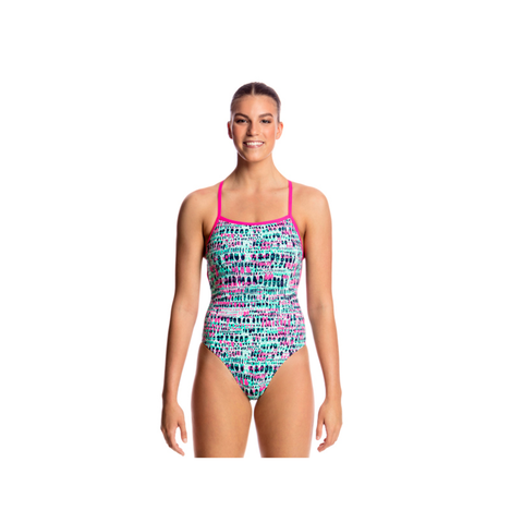 FUNKITA - Ladies Strapped in One Piece Minty Madness - Sharks Swim Shop