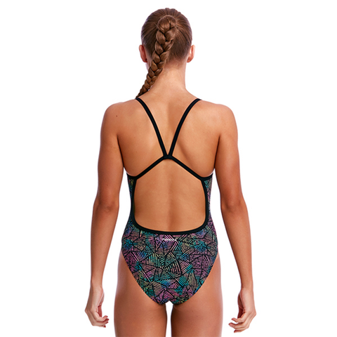 FUNKITA - Girls Single Strap One Piece Poison Pop - Sharks Swim Shop