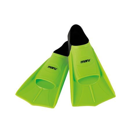 Maru - Training Fins - Neon Green & Black - Sharks Swim Shop