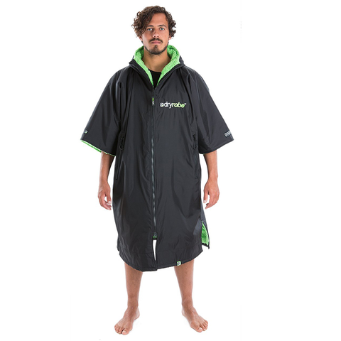DRYROBE ADVANCE - Short Sleeve Black & Green - Sharks Swim Shop